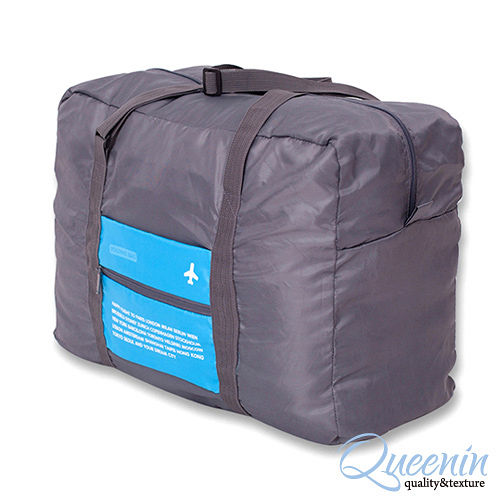DF Queenin - 韓版折疊款大容量手提式旅行袋-共4色