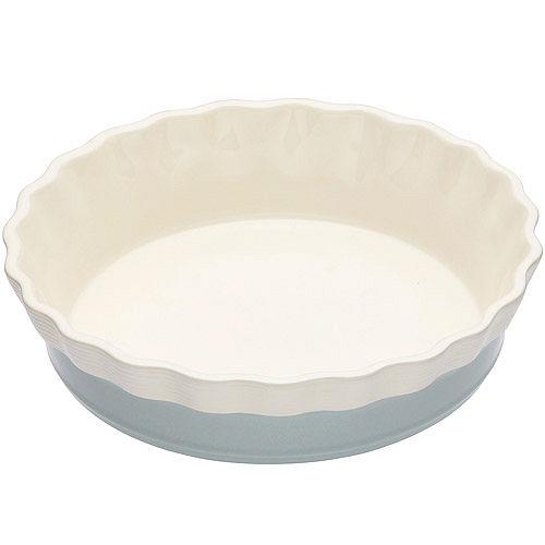 《KitchenCraft》8吋陶製花邊派盤(藍)