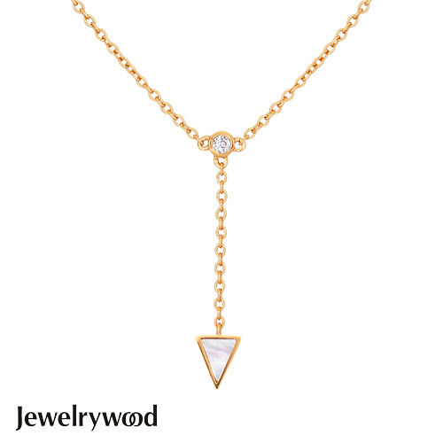 Jewelrywood 純銀Aztec三角珍珠母貝項鍊