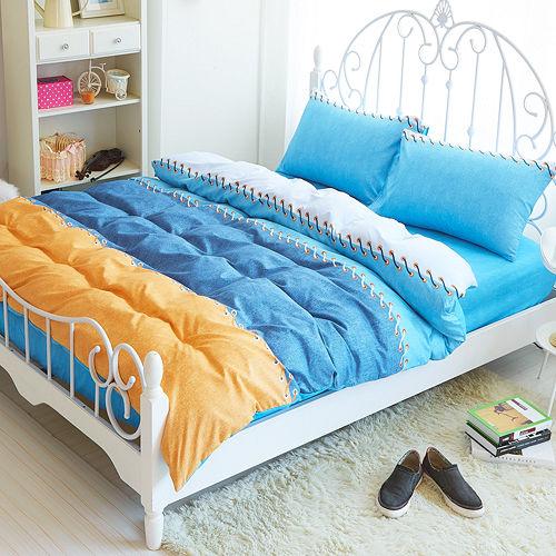 Picasso-牛仔夏天-雙人三件式 床包組
