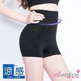 【美麗焦點】台灣製涼感180丹高腰平口褲-黑色2469