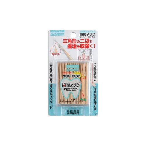 【CLEARDENT】日本-美齒美人-三角牙籤(180支)-3入組