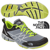 【美國 The North Face】男新款 ULTRA KILOWATT 透氣耐磨戶外多功能鞋 CCF8 石碑灰/日光黃