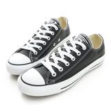 Converse 男/女 皮革低筒-黑色-132174C