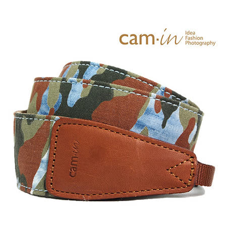 Cam in迷彩牛仔 相機背帶