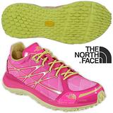 【美國 The North Face】女新款 ULTRA TR II 輕量透氣耐磨越野跑鞋 CKM4 螢光粉/戚風黃