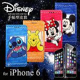迪士尼 Disney 授權正版 APPLE iPhone 6 4.7吋 手帳式磁力支架筆記本皮套