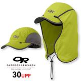 【美國 Outdoor Research 】SUN RUNNER CAP™ UPF30 抗紫外線透氣護頸帽/抗UV防曬後遮 鴨舌帽.跑步帽.棒球帽.擋片可拆 草綠 OR80610