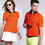 【LEIDOOE】時尚玩色男版短袖POLO衫(16519)橘色