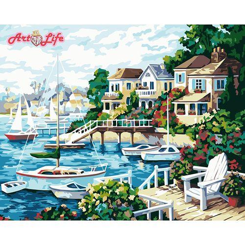 ArtLife藝術生活【66170】陽光海岸_DIY 數字 油畫 彩繪 40*50cm