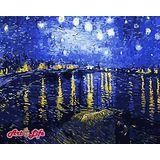 ArtLife藝術生活【66323】梵谷 星空下的羅納河 DIY 數字 油畫 彩繪 40*50cm