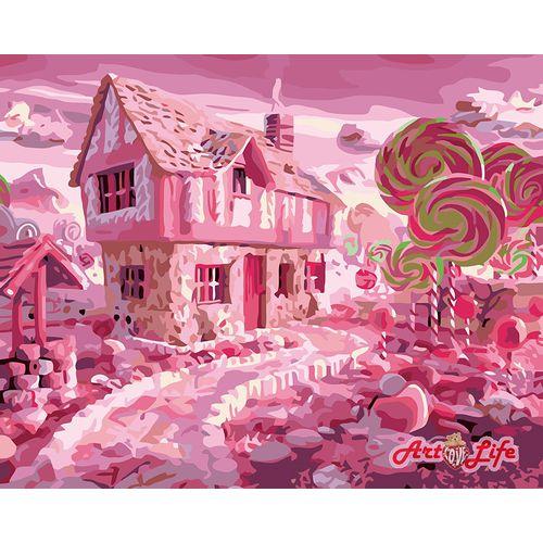 ArtLife藝術生活【66417】糖果屋_DIY 數字 油畫 彩繪 40*50cm