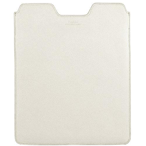 BALLY 牛皮壓紋iPad保護套(白色)