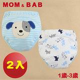 (購物車)【MOM AND BAB】可愛狗狗三層防水學習褲(兩入組)(6~14公斤)