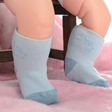 【KEROPPA】可諾帕MIT0~6個月嬰兒厚底止滑1/2短襪x3雙(淺藍配藍)95001-D