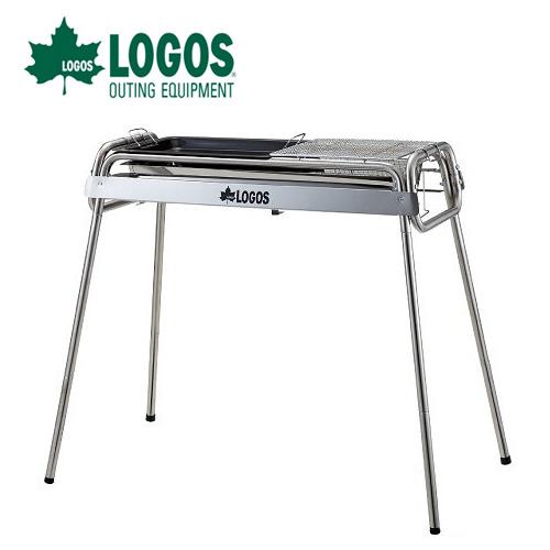 【日本LOGOS】不鏽鋼二BBQ烤爐XL(附烤盤)燒烤爐具.焚火台/適露營野炊 / LG81060820