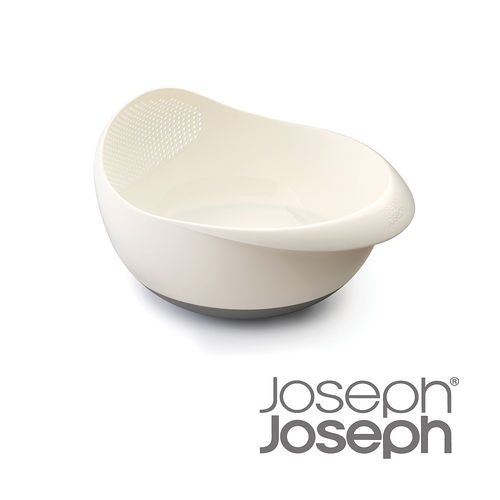 Joseph Joseph英國創意餐廚★浸泡洗滌兩用濾籃(大白)-40064
