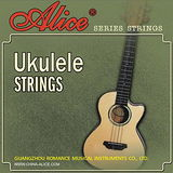 【美佳音樂】Alice AU02 黑色烏克麗麗套弦 21-23吋皆可用