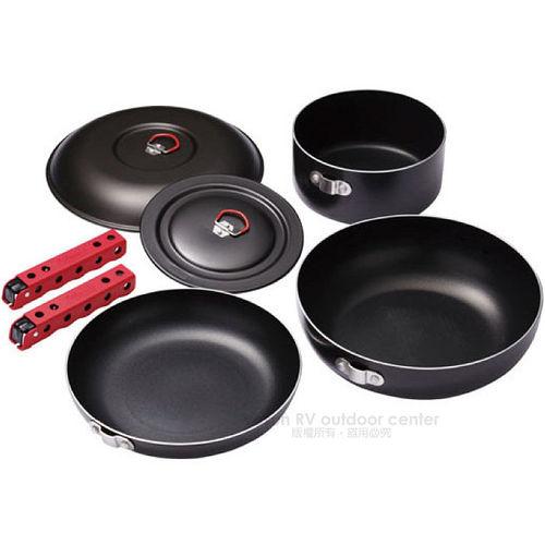 【美國 Coleman】三件式硬鋁套鍋 (大鍋、湯鍋、網鍋、煎鍋) /CM-PK31