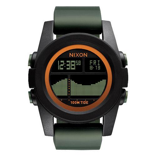 NIXON Unit Tide40 飆悍美式軍風運動腕錶-錶帶綠