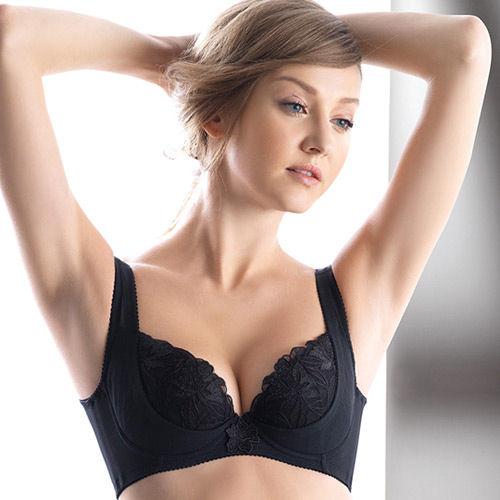 【LADY】安布羅莎系列 機能調整型 B-D罩內衣(魅惑黑)