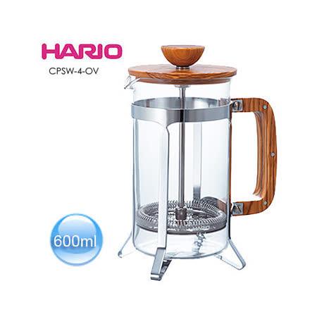HARIO 橄欖木濾壓咖啡壺 CPSW-4-OV 600ml