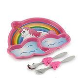 【KIDSFUNWARES】造型兒童餐盤組-彩虹小馬