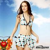 【Heatwave熱浪】藍雅格調 萊克三件式泳裝-81496