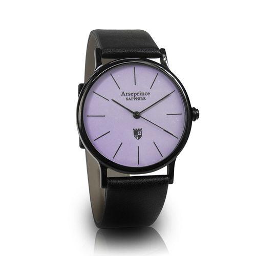【Arseprince】彩虹之夜簡約中性錶-紫色