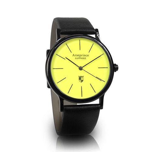【Arseprince】彩虹之夜簡約中性錶-黃色