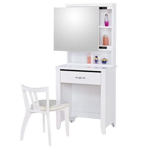 HAPPYHOME 千億白色2尺化妝台-含椅子768-7