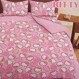 SHINEE 台灣製《Hello Kitty》標準雙人床包三件組(5尺)-蘋果派對