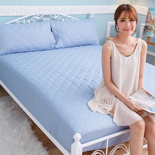 J-bedtime【幻彩寶藍】加大床包式防汙防塵保潔墊