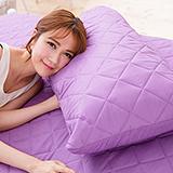 J-bedtime【幻彩深紫】枕頭專用-防汙防塵保潔枕墊(2入)