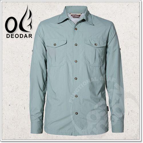 【DEODAR】美國杜邦 SUPPLEX 經典休閒男防曬襯衫(可變短袖)UPF40+