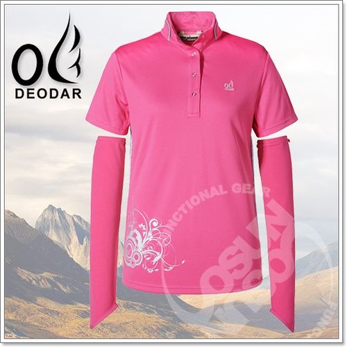 【DEODAR】美國 Polartec Power Dry 女 高雅高領衫(原紗布_送袖套)