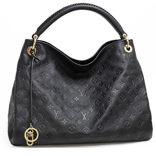 Louis Vuitton LV M41066 ARTSY MM 經典花紋皮革壓紋單柄肩背包.黑_預購