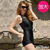 【Heatwave熱浪】金柔曲線 加大萊克連身裙泳裝-81741