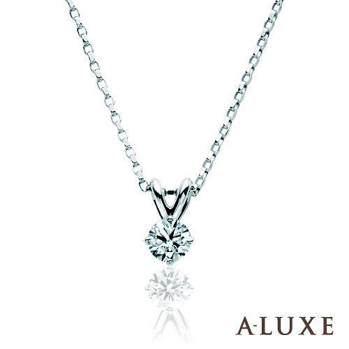 A-LUXE 亞立詩鑽石 0.30克拉18K金 經典單鑽項鍊