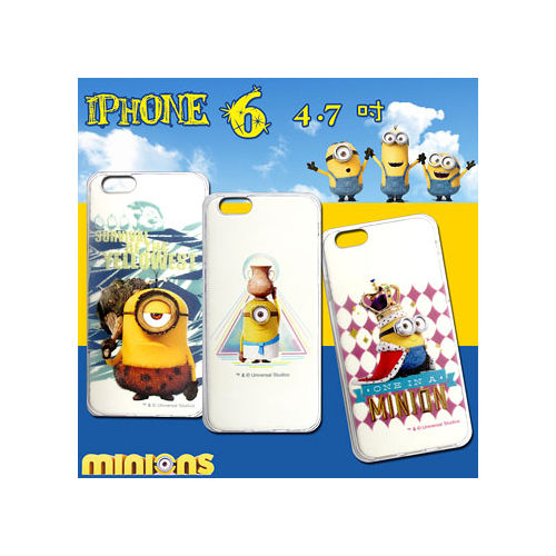 黃色小小兵 正版授權 IPHONE 6 4.7吋 透明軟式保護套 手機殼(情境篇)