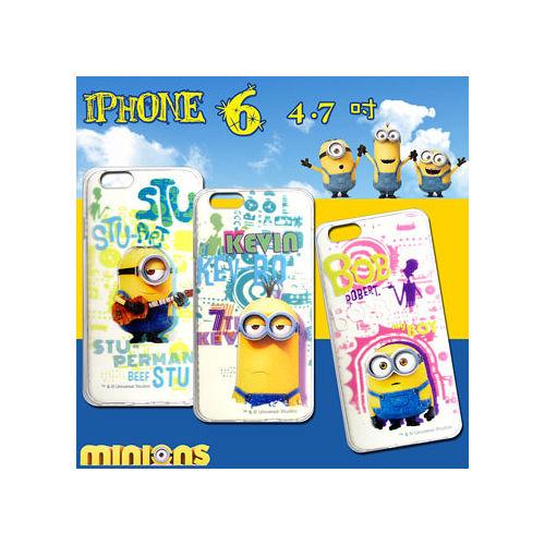黃色小小兵Minions 正版授權 IPHONE 6 4.7吋 透明軟式保護套 手機殼(人物篇)