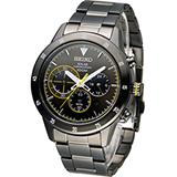 SEIKO Criteria 極速競賽太陽能計時腕錶 V175-0DA0G SSC343P1