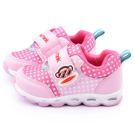 童鞋城堡-Paul frank大嘴猴 中童 氣墊運動鞋P5043001-粉