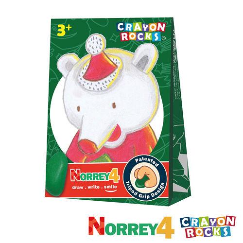 美國【Crayon Rocks】酷蠟石 - 聖誕熊 諾瑞 4色