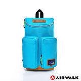 AIRWALK - U型火鍋蓋 雙肩單肩後背輕便小包 - 天氣晴藍