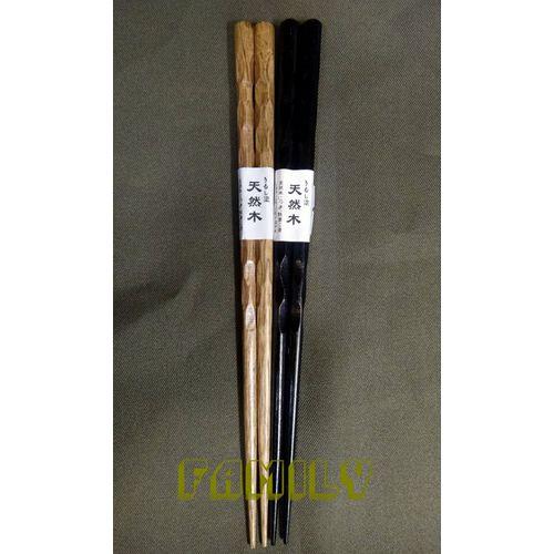 日式居家 自然木 木質餐具 ~ 木筷 ~ 單雙 黑色