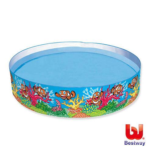 《購犀利》美國品牌【Bestway】Q版海底世界硬膠泳池72x15吋(免充氣)
