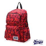 KANGOL 英國袋鼠 「JUNGLE」機能叢林迷彩圖騰後背包-紅KG1111-A