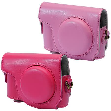 Kamera 兩件式皮質包 for Casio ZR3500 桃,粉 -friDay購物