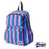 KANGOL 英式袋鼠JUNGLE系列- 條紋後背包-藍色KG1111
